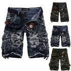 2017 Mens Casual Army Cargo Combat Camo Camouflage Overall Shorts Sports Pants