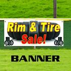 used auto tires for sale - Rim & Tire Sale! Promotion Banner Sign Wheels Autos Cars Repair Shop Used New