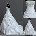 New White/ivory Wedding Dress Bridal Gown Custom Stock Size: 6 8 10 12 14 16 18+