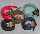 Boys Mens Ladies kids Black Red Navy Brown Green 30mm Canvas Belt l xl xxl C9