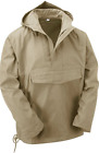 Beige Military Army Style Smock Winter Hooded Windbreaker Anorak Jacket Coat Top