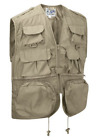 Beige Men's Multi-Pocket Tactical Outdoor Utility Fishing Hunting Vest Waistcoat
