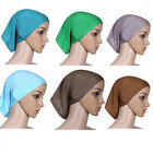 20Colors Women Under Scarf Tube Bonnet Cap Bone Islamic Head Cover Hijab Eager