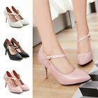 Women Casual Classic Pointed Toe Ankle Pumps Stiletto New Adult High Heels