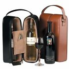 Royce Leather Royce Genuine Leather Double Wine Presentation Case