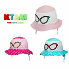 New Baby Girl Summer Cotton Beach Bucket Holiday Hat Cap 6-18Months Sunglasses