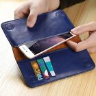 Genuine Real Cowhide Leather Wallet ID Card Cover Case For Samsung Galaxy S8/S8+
