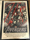 Tyler Stout AVENGERS SIGNED VARIANT 2012 Poster / screen print - RARE + Awesome!