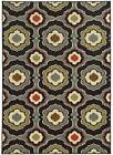 Floral Area Rug in Black and Gray [ID 3508472]