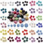 5/20pcs Crystal Disco Ball Beads Clay Pave Rhinestones Necklace 6-20mm