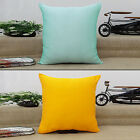 Home Decor Solid Dupion Silk Cushion Cover Pillow Case - Choose Size&Color