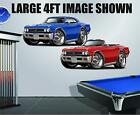 1966 Chevell SS 396 L-78 M21 Wall Graphic Garage Decor Man Cave Decal Stickers