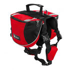 Pet Dog Hiking BackPack with 2 zipped side bags Bag Pet Dog Camping Backpack