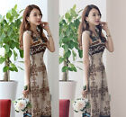 Women Summer Floral Long Maxi Dress Evening Cocktail Party Beach Dress Sundress