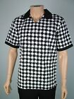 MENS CHEFS WHITES KITCHEN SHIRT sz S M L XL CHECK TEREDO PRINT COOKS UNIFORM TOP