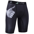 Men's Base Layer Under Pants Gym Compression Fitness Sports Tights Shorts WS44