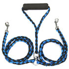 Dual Dog Braided Leash For Walking Training Two Dog Double Ended Metal Swivel