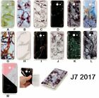 New Marble Granite Pattern Soft TPU Phone Case Cover For Samsung Galaxy J7 2017