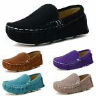 Toddler Boys Girls Moccasins Suede Leather  Loafers Oxford Prom Flat Boat Shoes