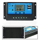 PWM 10A 20A 30A Solar Panel Charge Regulator 12V/24V Auto LCD Solar Controller