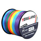 100% PE Braided Fishing Line 100M 300M 500M 1000M Spectra Dyneema Multicolor NEW