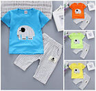 2pc baby boys clothes summer Tee +short pants kids boys casual outfits Elephant