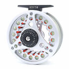 Maxcatch Fly Fishing Reel with Line Fully Loaded 3 4 5 6 7 8WT Silver Aluminum