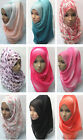 Muslim Women Head Cover Hijab Islamic Headwear Scarf Arab Cap Shawls Headscarf