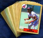 1987 O-Pee-Chee Cleveland Indians Baseball Card Your Choice - You Pick
