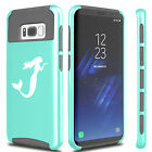 For Samsung S5 S6 S7 Edge S8 + Dual Shockproof Hard Soft Case Cover Mermaid