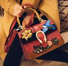 Embroidery Vintage Bamboo Handbags Fashion Shoulder Crossbody Bags Womens