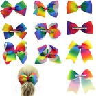 1x Boutique Large Girls Hair Bows Alligator Clips Grosgrain Cheerleading Hairbow