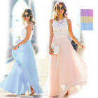 Women Wedding Bridesmaid Evening Party Ball Prom Gown Cocktail Maxi Dress S-2XL