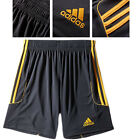 Adidas Original Mens Youth Squadra Shorts Black/Yellow New Z56008