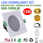 NEW 6X13W 90MM CUTOUT SQUARE CCT DIMMABLE LED DOWNLIGHT KIT WARM/COOL WHITE IC-F
