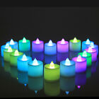 LED Color Flameless Tealight Tea Candles Wedding Flickering Battery Operated