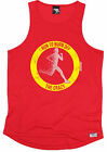 RUN TO BURN OFF THE CRAZY MENS DRY FIT VEST singlet training birthday running