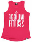 Peace Love Fitness WOMENS DRY FIT VEST birthday gift gym fashion running runner