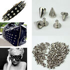 100Pcs Silver Gold Metal Studs Rivet Bullet Spike Cone Screw For Leather Craft