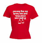If You Can Read This Back On My Horse WOMENS T-SHIRT tee birthday gift rider