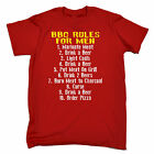 BBQ Rules For Men GENTS T SHIRT tee birthday present fashion gift funny barbecue