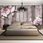 WALLPAPER NON WOVEN MURAL PHOTO FOTOTAPETE ART WOOD FLOWERS NATURE BOARDS 3352VE