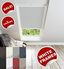 VELUX REPLACEMENT BLINDS WITH WHITE FRAMES - BLACKOUT ROLLER ROOF BLIND
