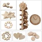 Many Style Wooden MDF Heart/Star Shape Pieces for Scrapbooking Embellishment DIY