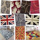Floral, Check, Retro Multi Coloured Designer Modern Cheap Rugs in Ten Options