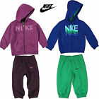 Nike Infants Girls Fleece Lined Hooded Tracksuit Full Zip Jumper Unisex Pant