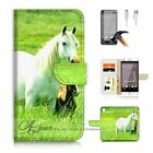 HTC Desire 530 Wallet Case Cover AJ20202 White Horse