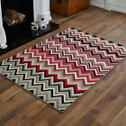 SMALL X-LARGE BLACK GREY RED CREAM WAVE PATTERN BEST QUALITY AND CHEAP COST RUGS