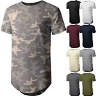Kyпить Mens BASIC HIPSTER T Shirts Casual Extended Longline Back Hip Hop Tee Big Size на еВаy.соm