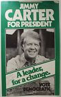 Vintage Secretarial Signed Jimmy Carter Presidential Campaign Poster Photo FP